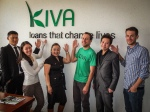 With the whole gang at Credit Mongol's Kiva office!