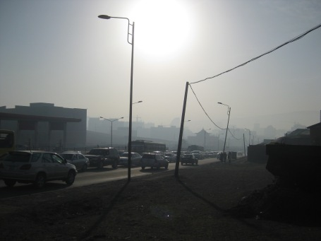 a not-so-clear winter morning in UB