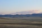 sunset on the steppe