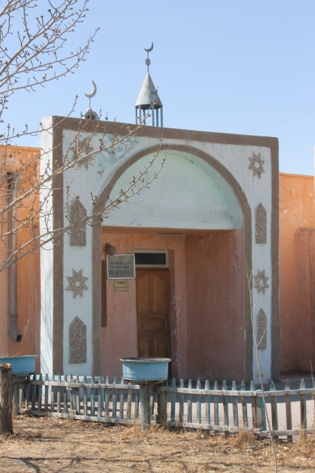 visiting the main mosque in Olgiy, where 90% of the population practice Islam