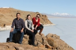 the driver, the Branch Director, and Batzul at Tolbo Nuur