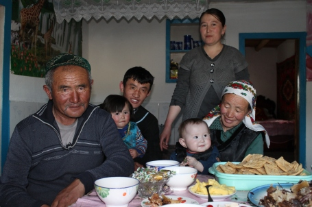 the Kazakh family who welcomed us into their home