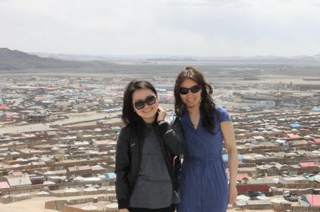 Batzul, the Kiva Coordinator-Extraordinaire (left) and the lucky Kiva Fellow who works with her