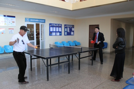 a job that lets you travel across Mongolia... AND play table tennis while you wait at the airport?!